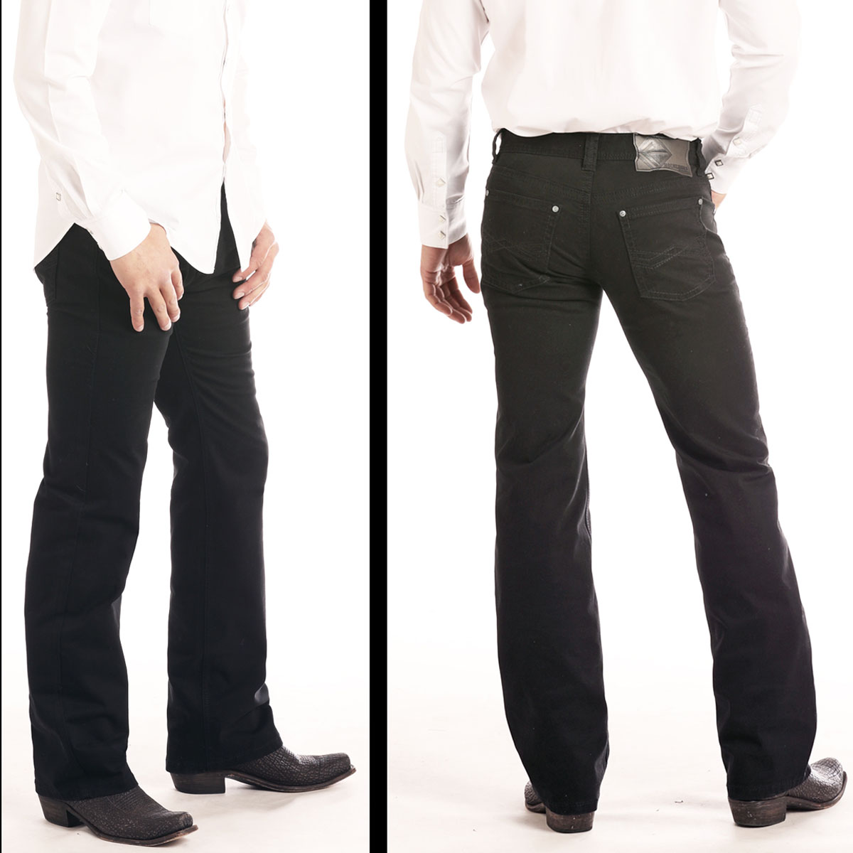 Rock & Roll Cowboy Pistol Straight Jeans Svart