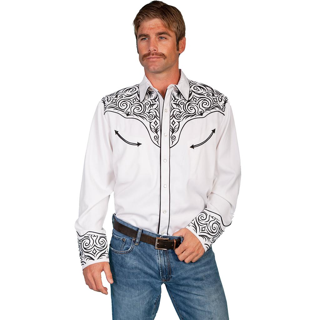 American Cowboy Westernskjorte Hvit Westernbutikken.no